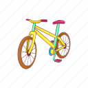 bicycle, bike, cartoon, cycle, race, sport, wheel icon