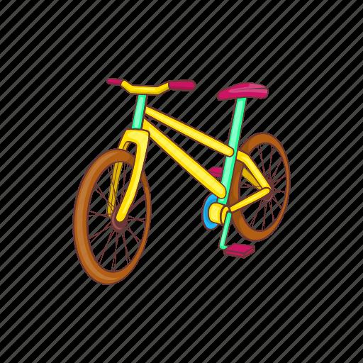 bicycle, bike, cartoon, cycle, race, sport, wheel icon