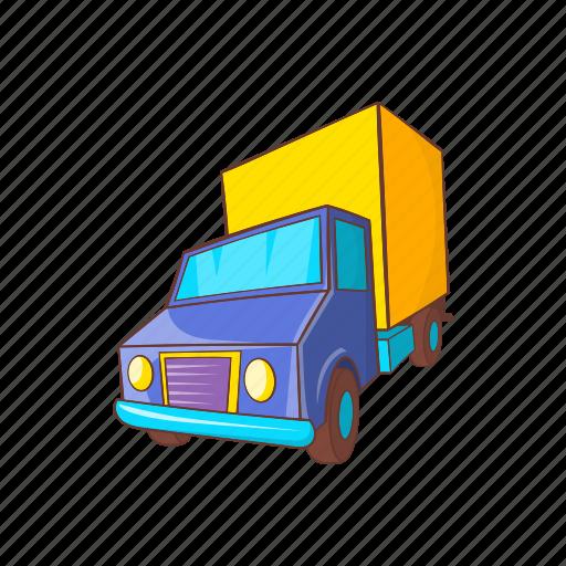 car, cargo, cartoon, delivery, service, transport, truck icon