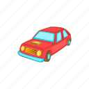 auto, car, cartoon, drive, red, transport, vehicle icon