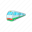 wagon, transportation, modern, train, railway, cartoon