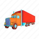 cargo, service, car, delivery, truck, cartoon, transport