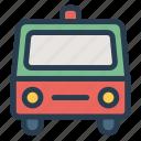 ambulance, emergency, public, transport, transportation, travel, vehical icon