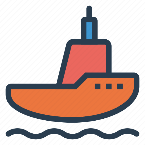 boat, deliver, logistic, sea, transport, travel, vehical icon