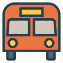 auto, bus, school, transport, transportation, travel, vehical icon