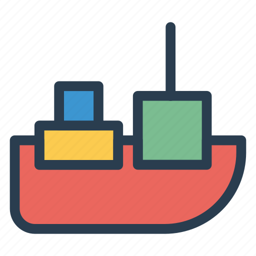 cargo, public, ship, transport, transportation, travel, vehical icon