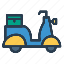 delivery, public, scootor, transport, transportation, travel, vehical icon