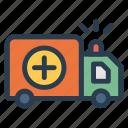ambulance, health, transport, transportation, travel, van, vehical icon