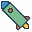 auto, launch, rocket, transport, transportation, travel, vehical icon