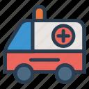 ambulance, medical, public, transport, transportation, travel, vehical icon
