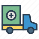 medical, public, transport, transportation, travel, van, vehical icon