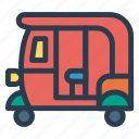 auto, public, rickshaw, transport, transportation, travel, vehical icon