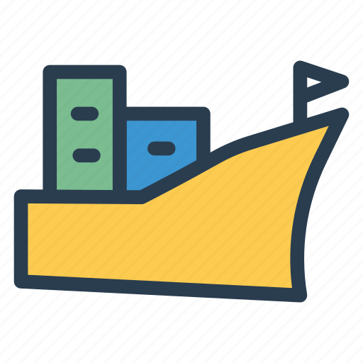 cargo, deliver, logistic, ship, transport, travel, vehical icon
