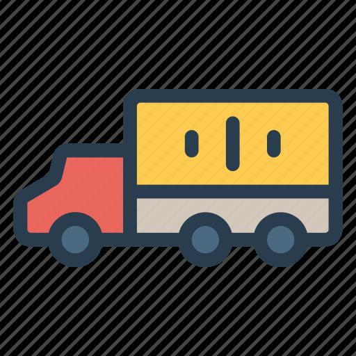 cargo, deliver, logistic, trailer, transport, travel, vehical icon