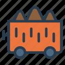 deliver, logistic, train, transport, travel, trolley, vehical
