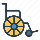 chair, public, transport, transportation, travel, vehical, wheel icon