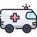 ambulance, car, emergency, rescue, transport icon
