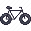 bicycle, bike, cycle, ride, transport icon