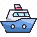 boat, ocean, sea, travel, vacation icon