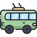 bus, public, transport, trolley, vehicle icon