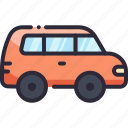 automobile, car, suv, transport, vehicle icon