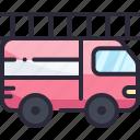 emergency, engine, fire, ladder, rescue, vehicle