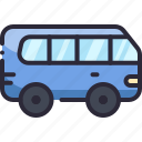 bus, car, minibus, transport, vehicle icon
