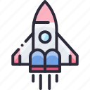 future, launch, rocket, science, shuttle icon