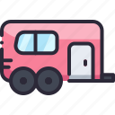 car, trailer, transport, transportation, vehicle icon