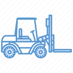 forklift, loader, shipping, wharehouse icon