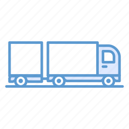 cargo, lorry, trailer, transportation, truck icon