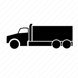 distribution, raw material, road, truck icon