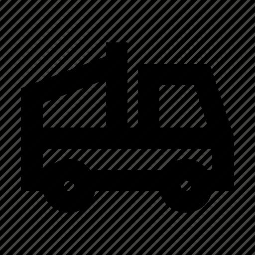construction, dump, transport, truck, vehicle icon