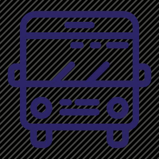 bus, city, passenger, transport, transportation, travel, vehicle icon
