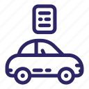 auto, automobile, car, passport, technical, transport, vehicle icon