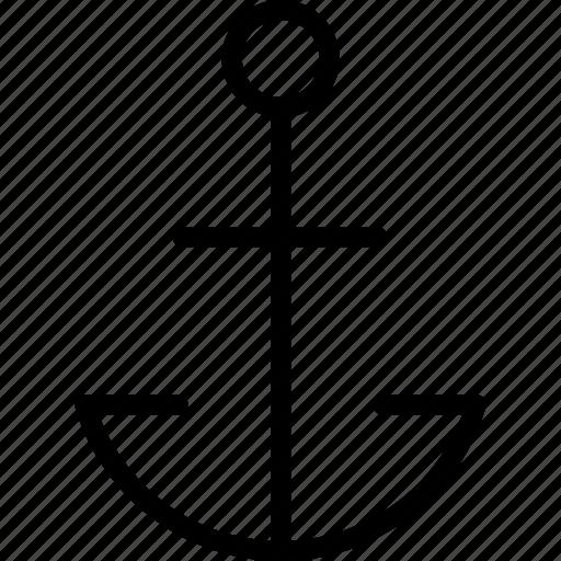 anchor, machine, machines, ship, transport icon