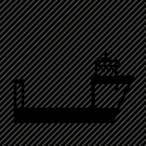 heavy, oil rig, semi, ship, submersible, transport, transportation icon
