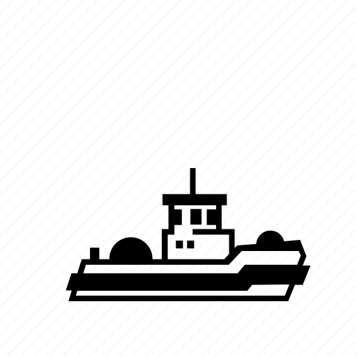 barge, boat, harbor, pull, push, ship, tug icon