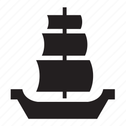 old, pirate, sailboat, transport, travel, vessel, viking icon