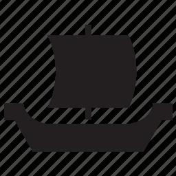 boat, pirate, sailboat, ship, transport, vessel, viking icon