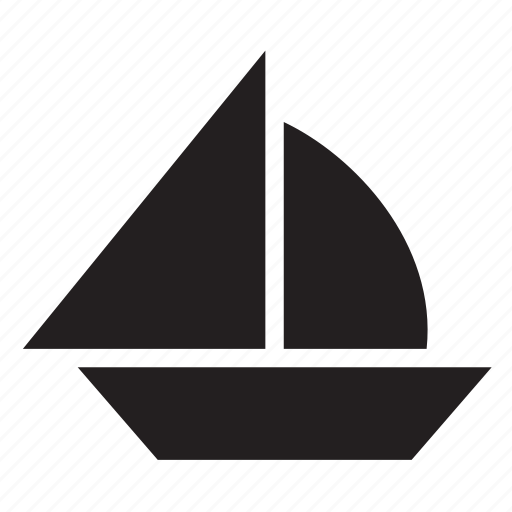 boat, sail, sailboat, sailing, ship, transport, travel icon