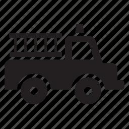 fire, firefighter, firefighting, transport, transportation, travel, truck icon