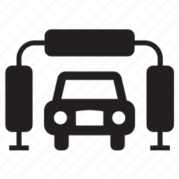 car, conveyance, garage, repair shop, transport, transportation, wash icon