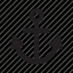anchor, boat, marine, nautical, ship, transport, transportation icon