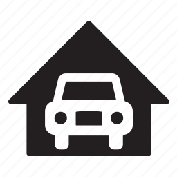 car, car park, garage, home, house, parking lot, transport icon