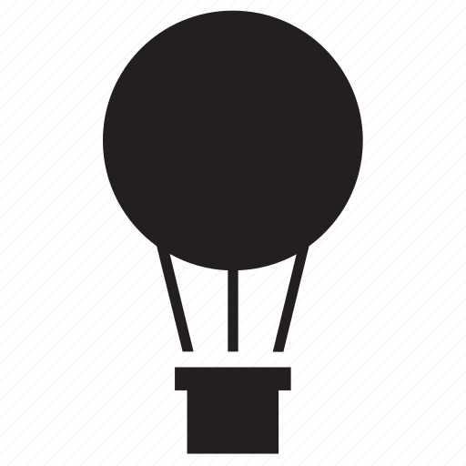 hot air balloon, transport, transportation, travel icon