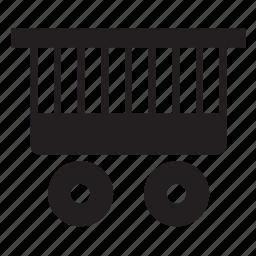 cage, cart, circus, transport, transportation, wagon, wheelbarrow icon