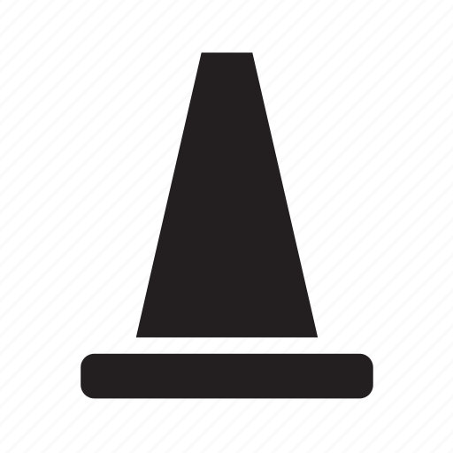 cone, security, sign, traffic, transport, transportation, travel icon