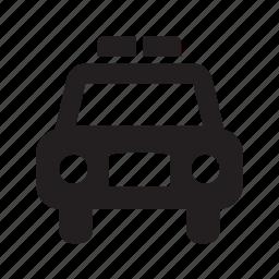 auto, automobile, car, motor, motorcar, police, vehicle icon