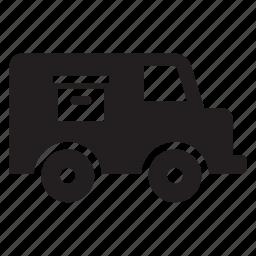 cargo, shipping, transport, transportation, travel, truck, van icon